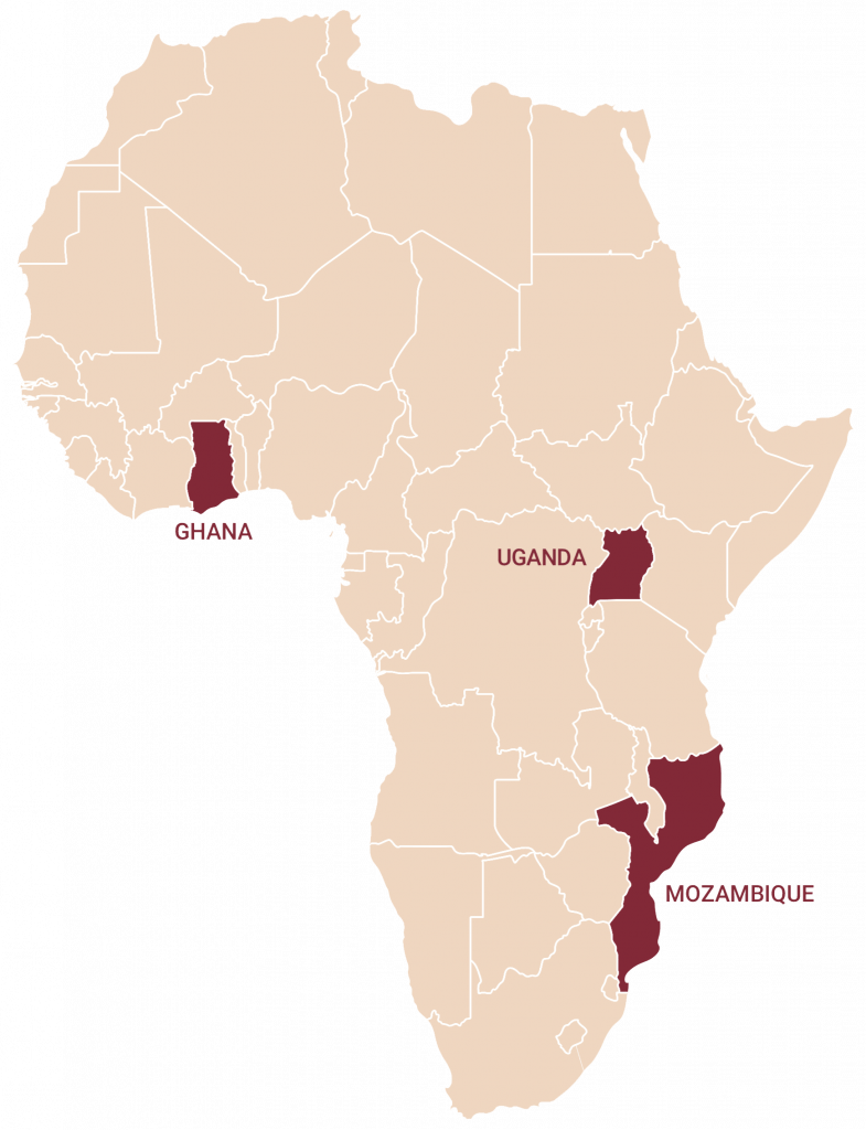 Map of the CONNECT project countries