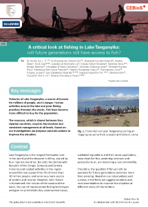 Cover of Policy Brief 15 (Lake Tanganyika)
